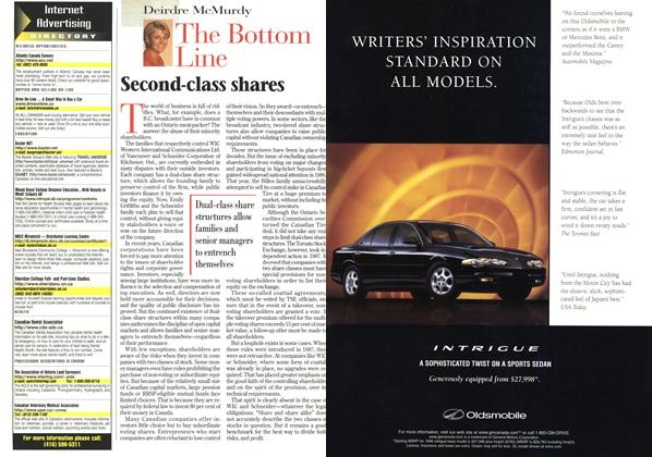 Article Preview: The Bottom Line, April 1998 | Maclean's