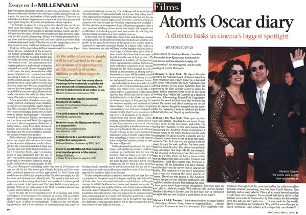 Article Preview: Atom's Oscar diary, April 1998 | Maclean's