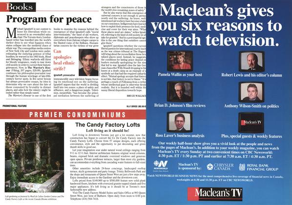 Article Preview: Program for peace, April 1998 | Maclean's
