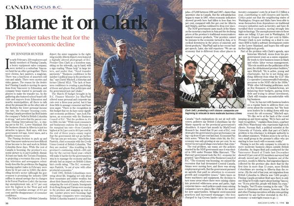 Article Preview: Blame it on Clark, April 1998 | Maclean's