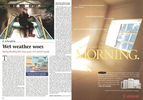 Article Preview: Wet weather woes, April 1998 | Maclean's