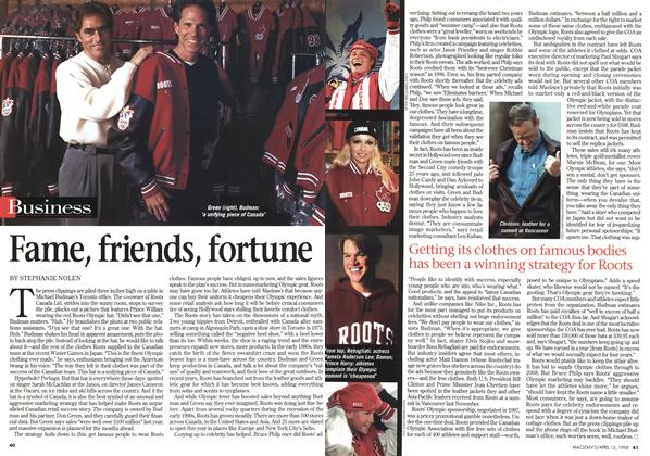 Article Preview: Fame, friends, fortune, April 1998 | Maclean's