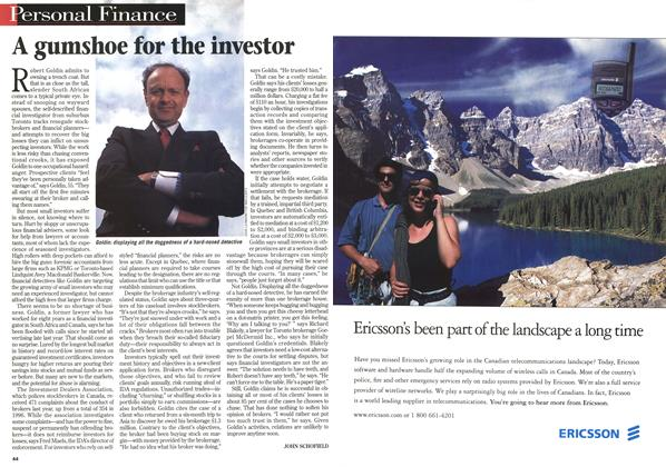 Article Preview: A gumshoe for the investor, April 1998 | Maclean's