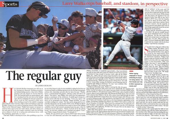 Article Preview: The regular guy, April 1998 | Maclean's