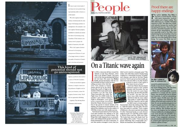 Article Preview: On a Titanic wave again, April 1998 | Maclean's