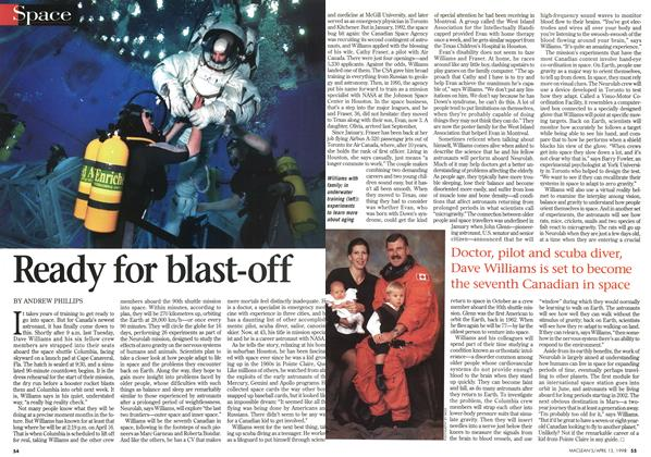 Article Preview: Ready for blast-off, April 1998 | Maclean's