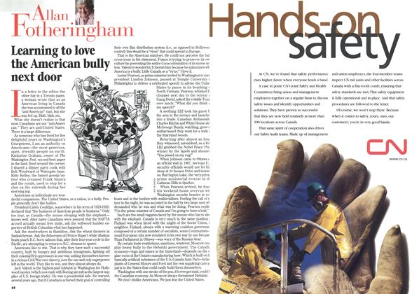 Article Preview: Learning to love the American bully next door, April 1998 | Maclean's