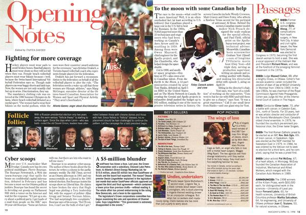 Article Preview: Fighting for more coverage, April 1998 | Maclean's