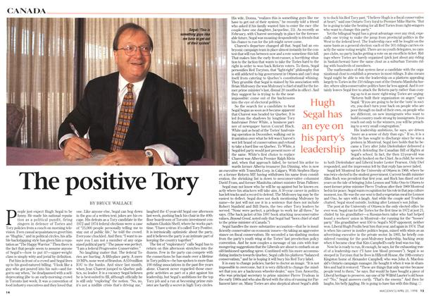 Article Preview: The positive Tory, April 1998 | Maclean's