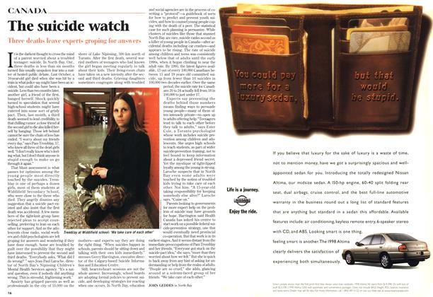 Article Preview: The suicide watch, April 1998 | Maclean's