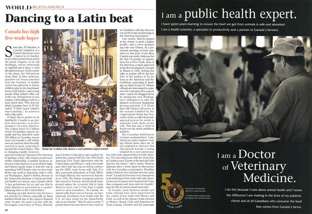 Article Preview: Dancing to a Latin beat, April 1998 | Maclean's