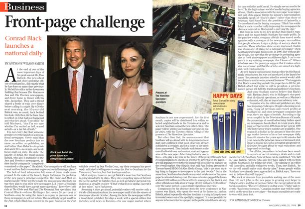 Article Preview: Front-page challenge, April 1998 | Maclean's