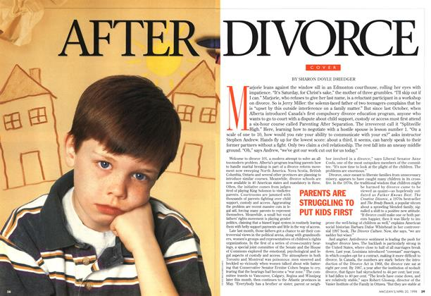 Article Preview: AFTER DIVORCE, April 1998 | Maclean's