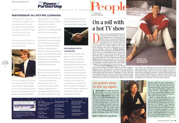 Article Preview: On a roll with a hot TV show, April 1998 | Maclean's
