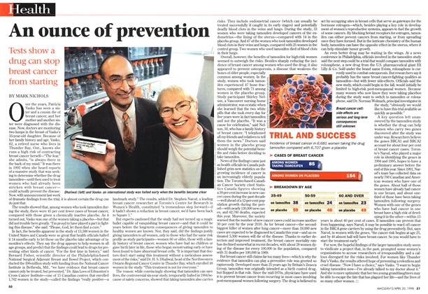 Article Preview: An ounce of prevention, April 1998 | Maclean's