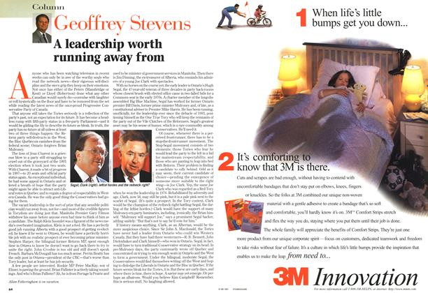 Article Preview: A leadership worth running away from, April 1998   Maclean's