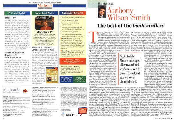 Article Preview: The best of the boulevardiers, April 1998 | Maclean's