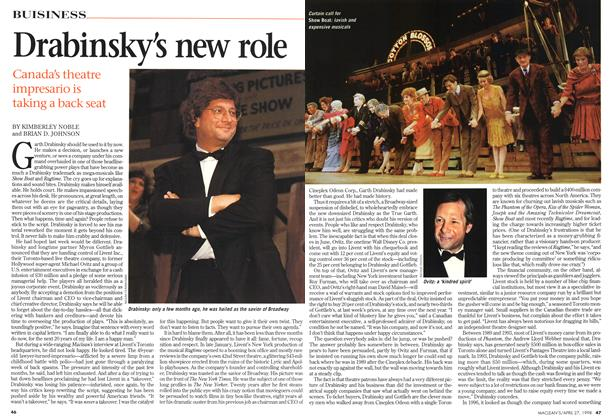 Article Preview: Drabinsky's new role, April 1998 | Maclean's