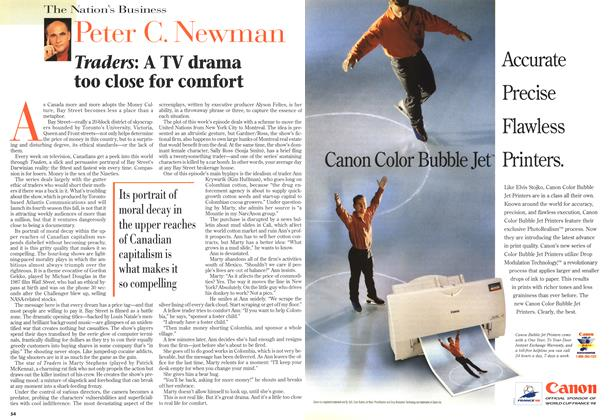Article Preview: Traders: A TV drama too close for comfort, April 1998 | Maclean's