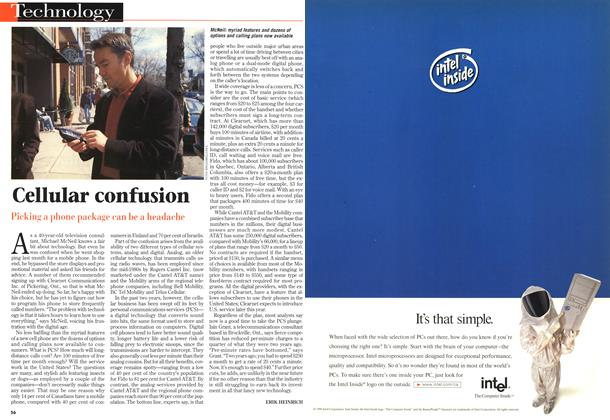 Article Preview: Cellular confusion, April 1998 | Maclean's