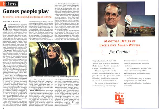 Article Preview: Games people play, April 1998 | Maclean's