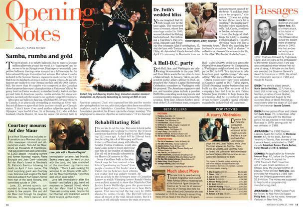Article Preview: Samba, rumba and gold, April 1998 | Maclean's