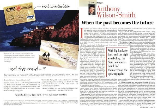 Article Preview: When the past becomes the future, May 1998 | Maclean's