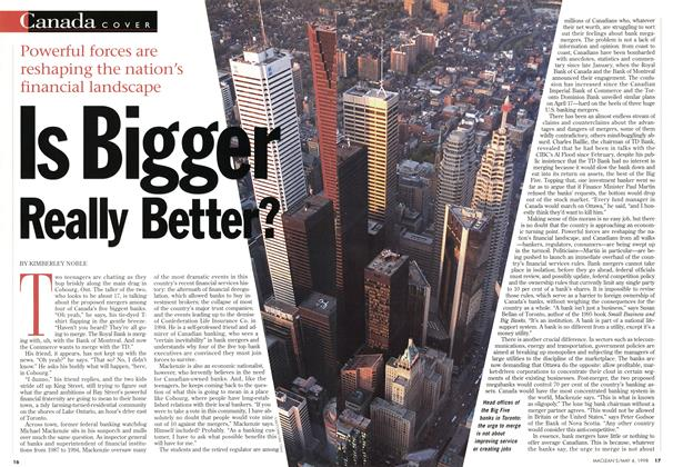 Article Preview: Is Bigger Really Better?, May 1998 | Maclean's