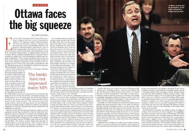 Article Preview: Ottawa faces the big squeeze, May 1998 | Maclean's