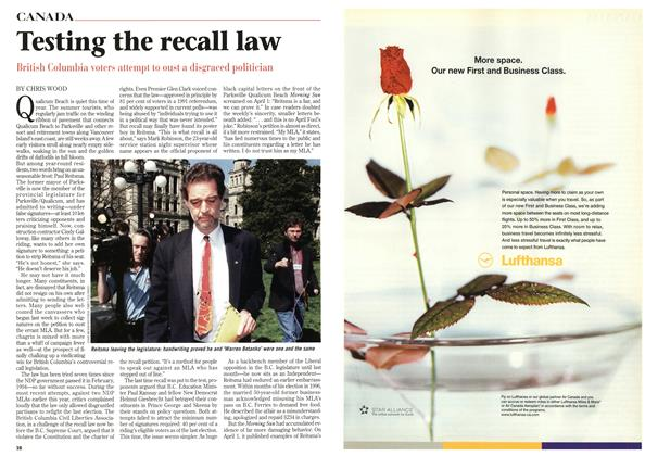 Article Preview: Testing the recall law, May 1998 | Maclean's