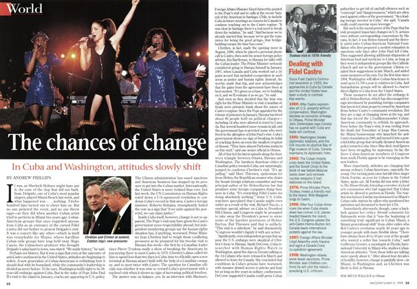Article Preview: The chances of change, May 1998 | Maclean's