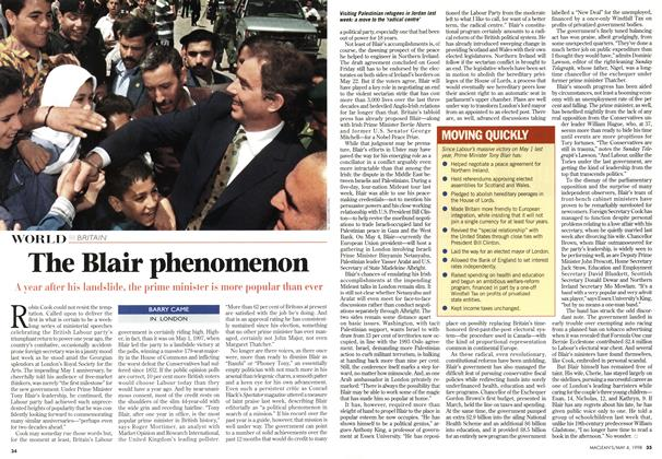 Article Preview: The Blair phenomenon, May 1998 | Maclean's