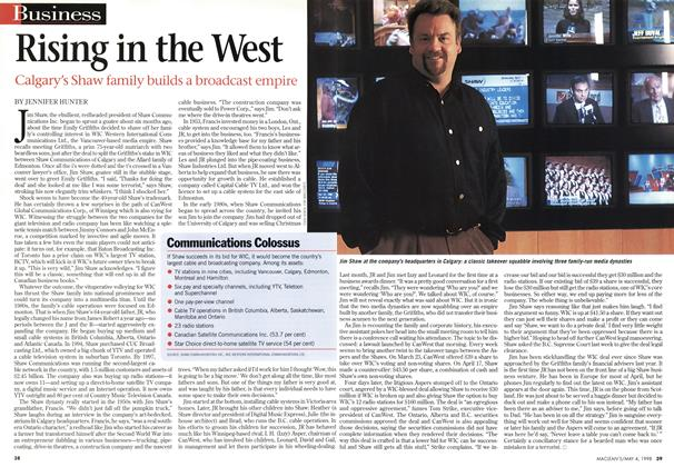 Article Preview: Rising in the West, May 1998 | Maclean's