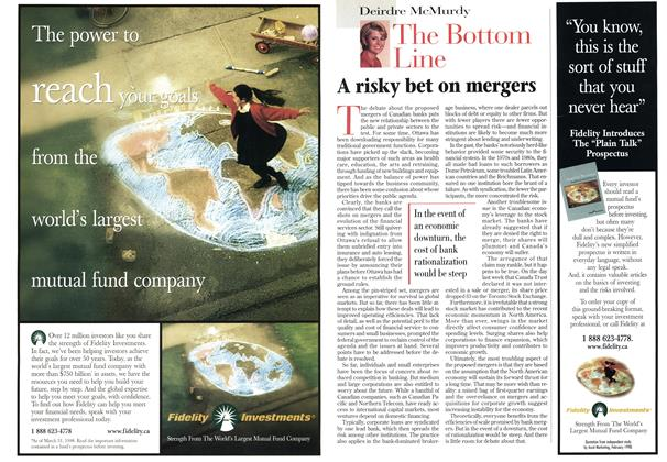 Article Preview: A risky bet on mergers, May 1998 | Maclean's