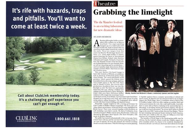 Article Preview: Grabbing the limelight, May 1998 | Maclean's