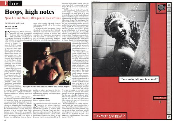Article Preview: Hoops, high notes, May 1998 | Maclean's