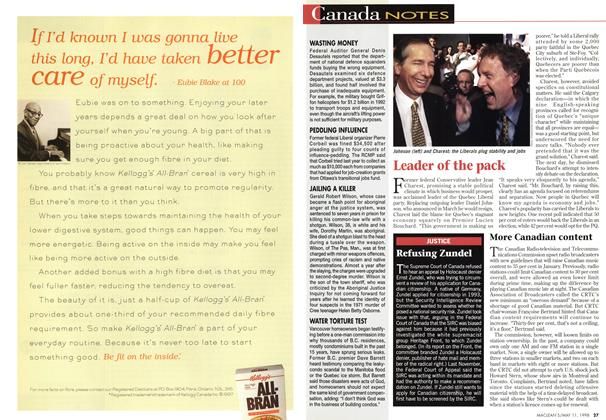Article Preview: Refusing Zundel, May 1998   Maclean's