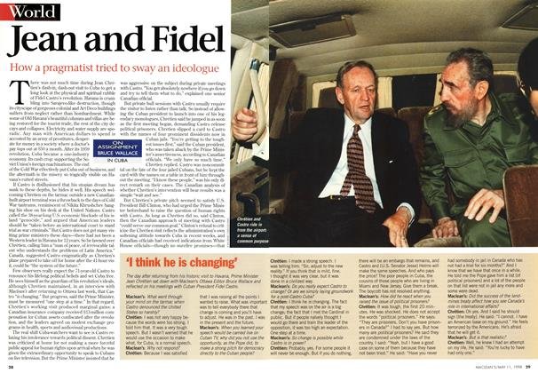 Article Preview: Jean and Fidel, May 1998 | Maclean's