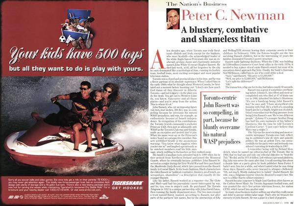 Article Preview: A blustery, combative and shameless titan, May 1998 | Maclean's
