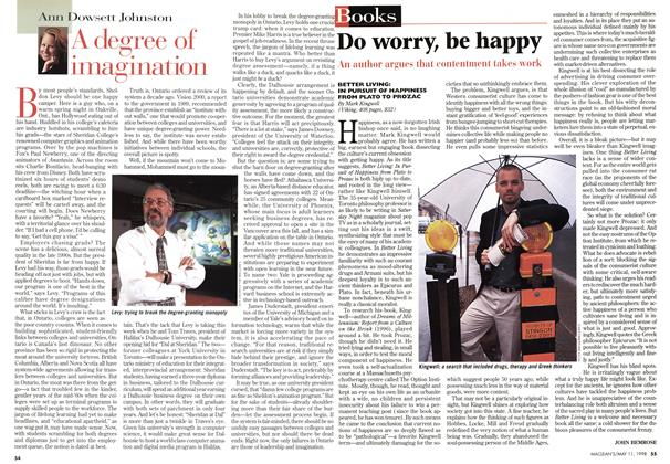 Article Preview: A degree of imagination, May 1998 | Maclean's