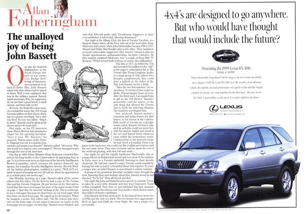 Article Preview: The unalloyed joy of being John Bassett, May 1998 | Maclean's