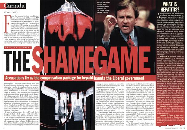 Article Preview: THE SHAME, May 1998 | Maclean's