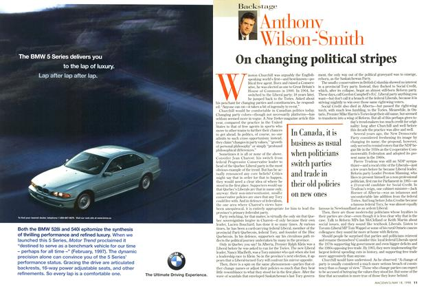Article Preview: On changing political stripes, May 1998 | Maclean's