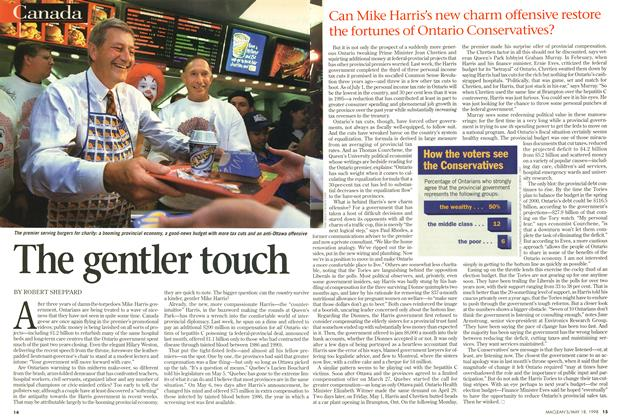 Article Preview: The gentler touch, May 1998 | Maclean's