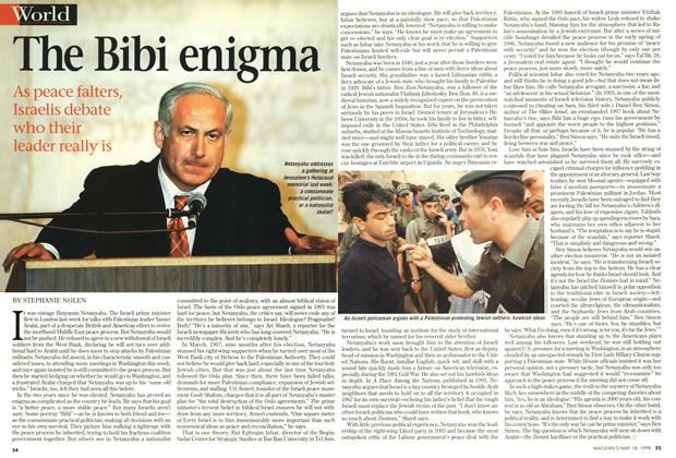 Article Preview: The Bibi enigma, May 1998 | Maclean's