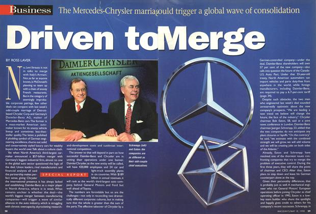 Article Preview: Driven to Merge, May 1998 | Maclean's