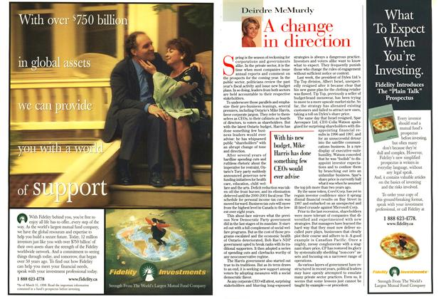 Article Preview: A change in direction, May 1998 | Maclean's