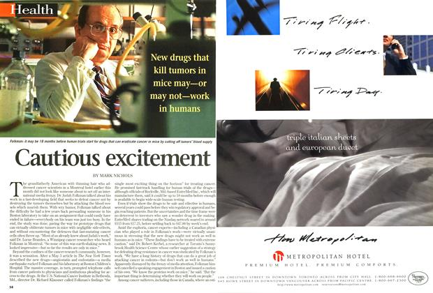 Article Preview: Cautious excitement, May 1998 | Maclean's