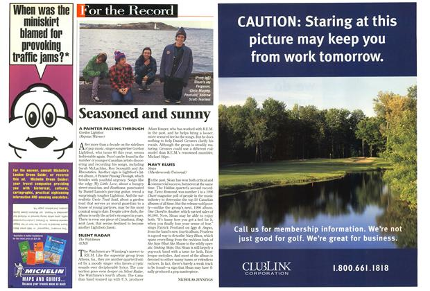 Article Preview: Seasoned and sunny, May 1998 | Maclean's