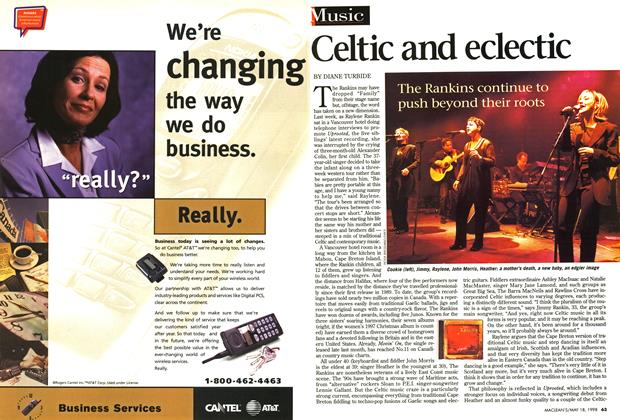 Article Preview: Celtic and eclectic, May 1998 | Maclean's